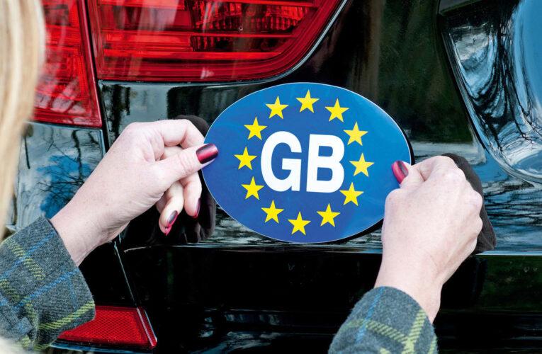 برچسب های GB دیگر برای رانندگی در خارج از کشور معتبر نیستند